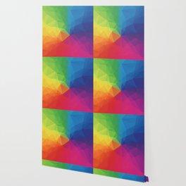 Rainbow Geometric Shapes Wallpaper