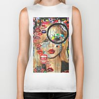 poker Biker Tanks featuring Poker Face by Katy Hirschfeld