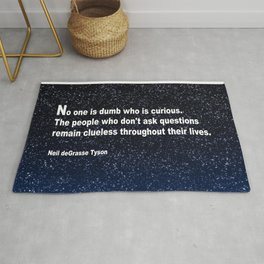 Neil deGrasse Tyson's quote Rug