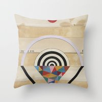 prism Throw Pillows featuring Prism by Laurie McCall