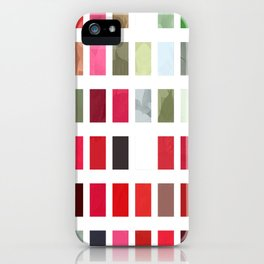 Mixed color Poinsettias 1 Abstract Rectangles 2 iPhone Case