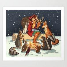 Winter Meeting Art Print