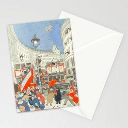 "William Heath Robinson - ""The Spirit of Christmas in Regent Street"" (1928) Stationery Cards"