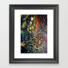 Inner and outer portrait Framed Art Print