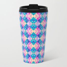 Pansy Checks Travel Mug