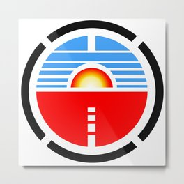 Saturn 3 Logo Metal Print