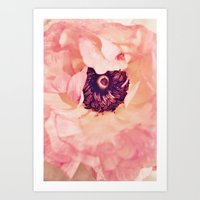 peony Art Prints featuring Peony by Ameliamiller