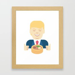 Trumpation - Best Taco Bowl Framed Art Print