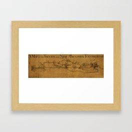 Trenton New Brunswick Turnpike 1800 Framed Art Print
