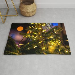 Christmas Tree Decorative Lights Rug