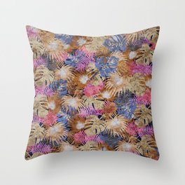Tropical Leaves #06 Throw Pillow