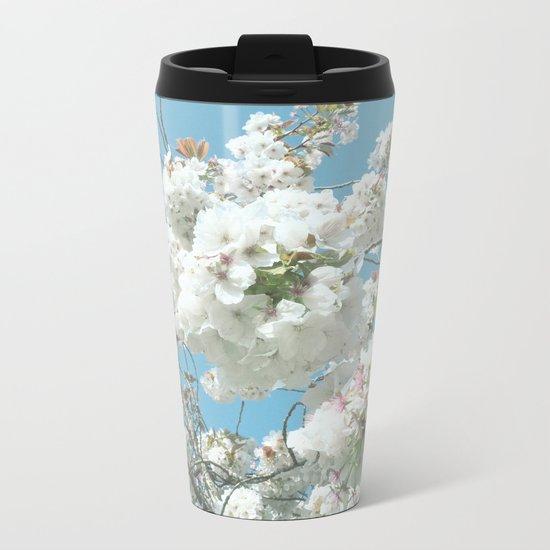 Spring Blooms Metal Travel Mug
