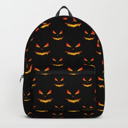 Cool scary Jack O'Lantern face Halloween pattern Backpack