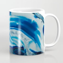 Blotchy Blue Brain Agate Slice Coffee Mug