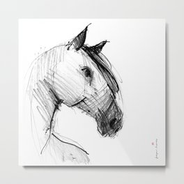 Horse (a head) Metal Print