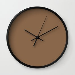 Sherwin Williams Trending Colors of 2019 Baked Cookie (Rich Warm Brown) SW 9098 Solid Color Wall Clock