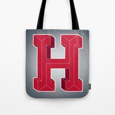 Alphabet H Tote Bag
