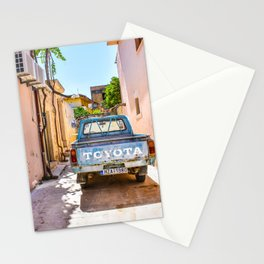 Parked truck Crete, Greece Stationery Cards