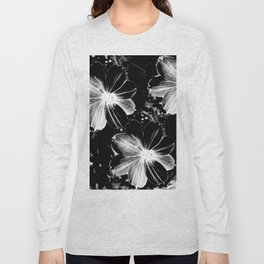 Black Flowers Long Sleeve T-shirt