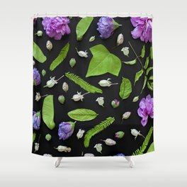 Leaves and flowers pattern (17) Shower Curtain