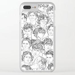 Timothée Chalamet Pattern Clear iPhone Case
