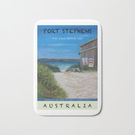 Travel Poster One Mile, NSW Bath Mat