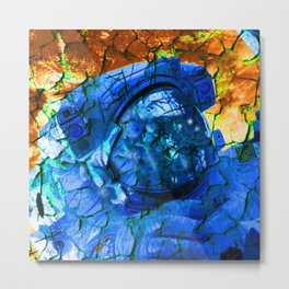 Cracked Astronaut Metal Print