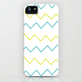 Lime & Teal Zig Zag iPhone Case