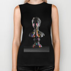 The Girl With Stars In Her Eyes (Black Background) Biker Tank