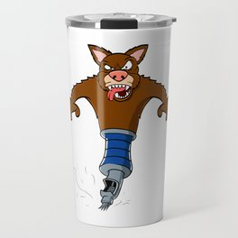 "Dog Anime Lover Shirt For Kawaii Fans ""Dog Ink Pen Write"" T-shirt Design Manga Otaku Animation Travel Mug"