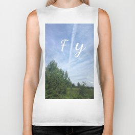 fly and explore the world Biker Tank