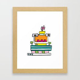 Big Smile Robot Framed Art Print