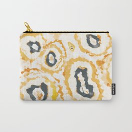 Honey Agate Abstact Panted Pattern Carry-All Pouch