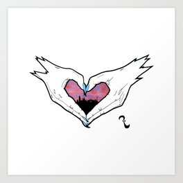 Barcelona in our heart Art Print