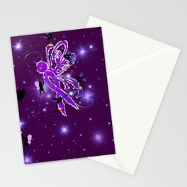 Power Purple For a Cure - Fairy Dust Stationery Cards