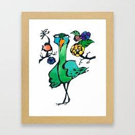Indifferent in the Garden Framed Art Print