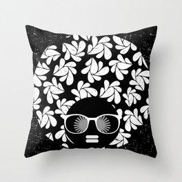 Afro Diva : Black & White Throw Pillow
