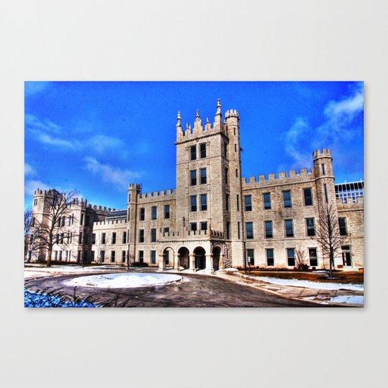 Northern Illinois University Castle - HDR Canvas Print