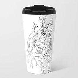 Dragon with horse Travel Mug