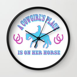 A Cowgirls Place Wall Clock