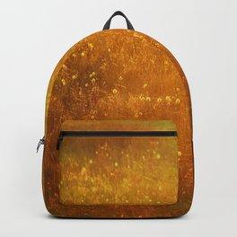 In Fields of Gold, Landscape Wildflowers Backpack