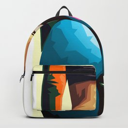 Sky Blue-Orange Backpack