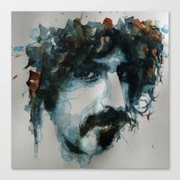 zappa Canvas Prints featuring Frank Zappa by Paul Lovering Watercolors