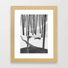 Martwood Wolves Framed Art Print