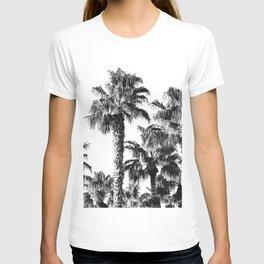 {2 of 2} Classic Palm Leaf Sky // Summer Black and White Palmtree Art Print T-shirt