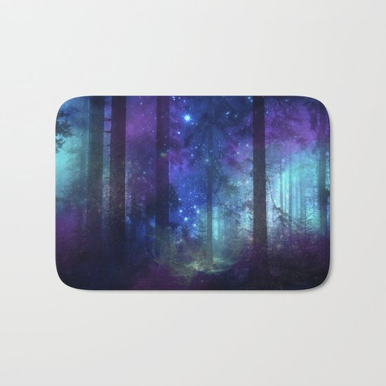 Out of the dark mystic light Bath Mat