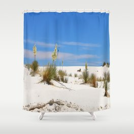 Soap Yucca At White Sand Shower Curtain