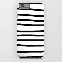 Simply Drawn Stripes in Midnight Black iPhone Case