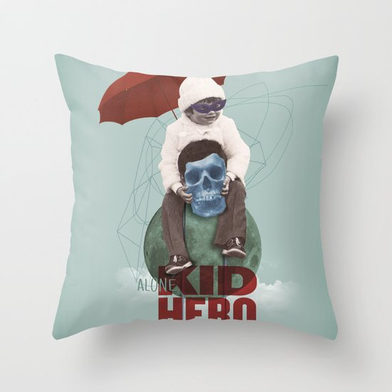 KID HERO Throw Pillow