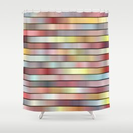Stripes in muted colors digital abstract  Shower Curtain
